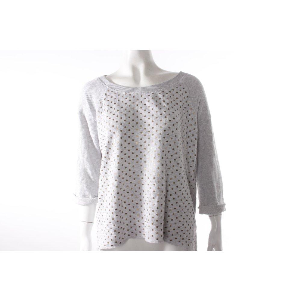 h m sweater mit pailletten damen gr de 38 silberfarben. Black Bedroom Furniture Sets. Home Design Ideas