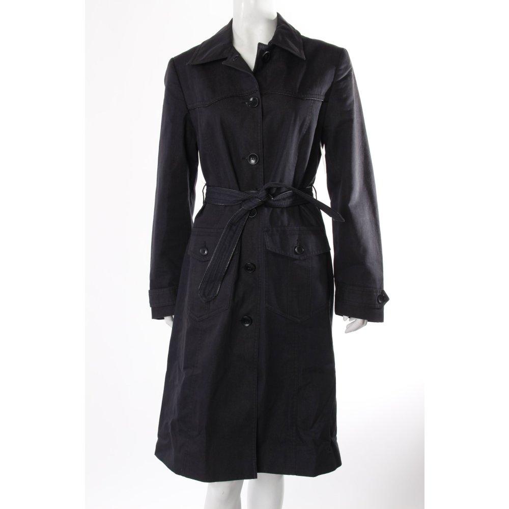 h m trenchcoat denim damen gr de 38 grau mantel coat. Black Bedroom Furniture Sets. Home Design Ideas