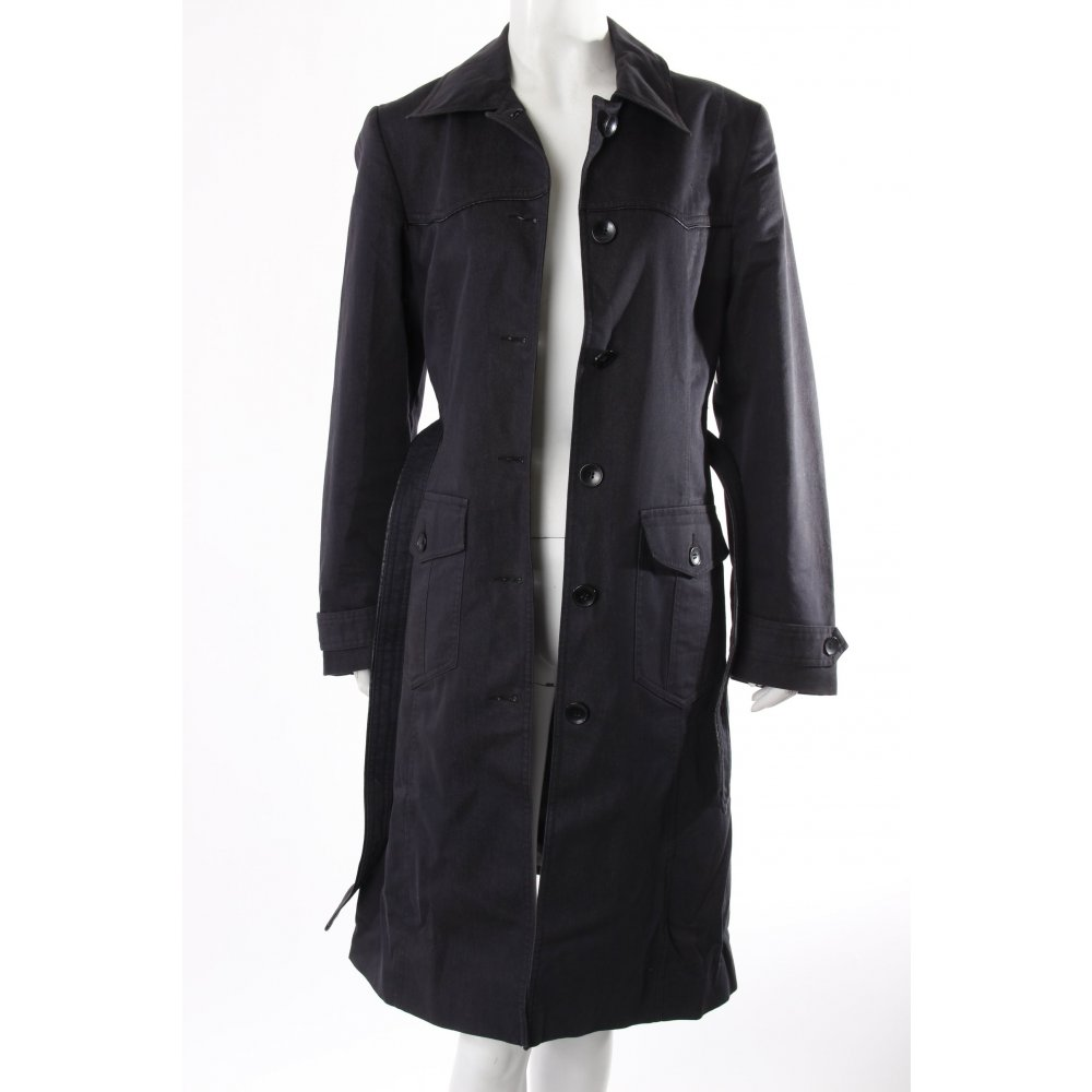 h m trenchcoat denim damen gr de 38 grau mantel coat. Black Bedroom Furniture Sets. Home Design Ideas