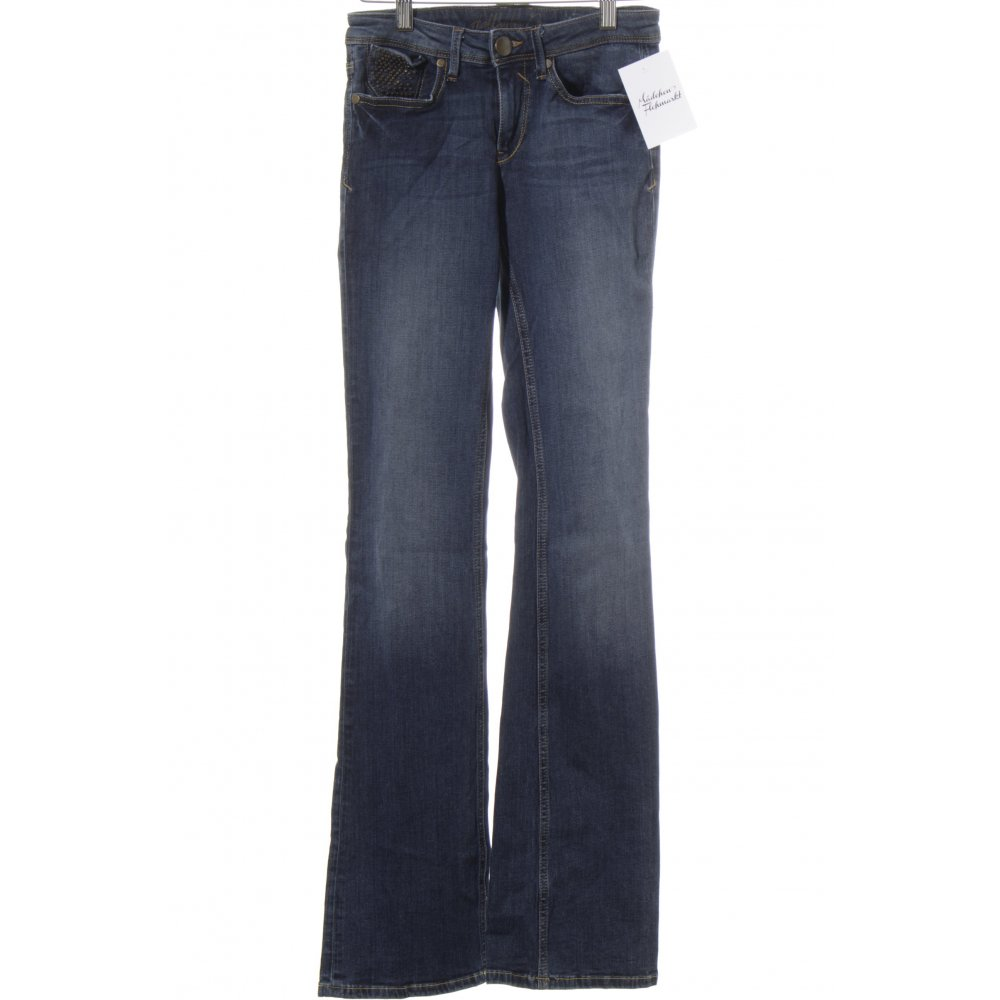 hallhuber boot cut jeans dunkelblau wollwei washed optik. Black Bedroom Furniture Sets. Home Design Ideas