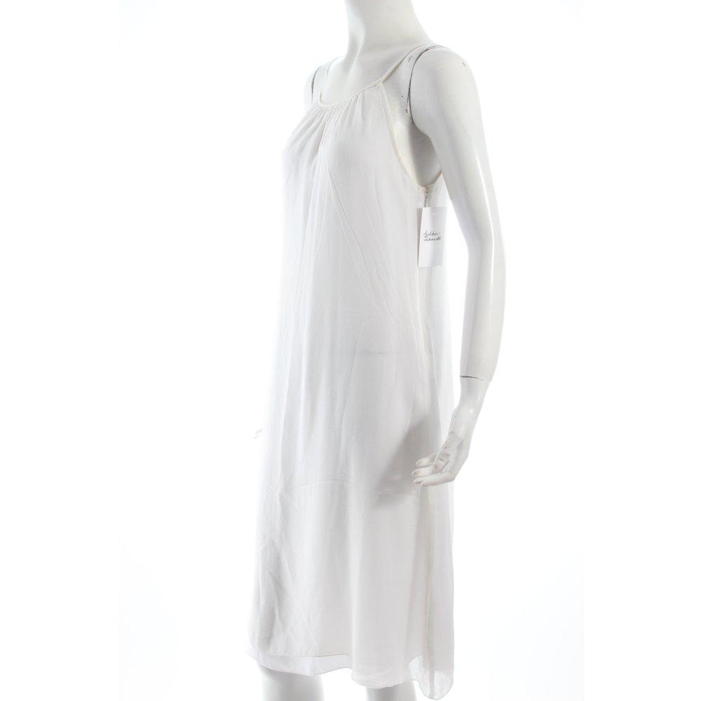 hallhuber donna kleid wei beach look damen gr de 36 wei seide dress ebay. Black Bedroom Furniture Sets. Home Design Ideas