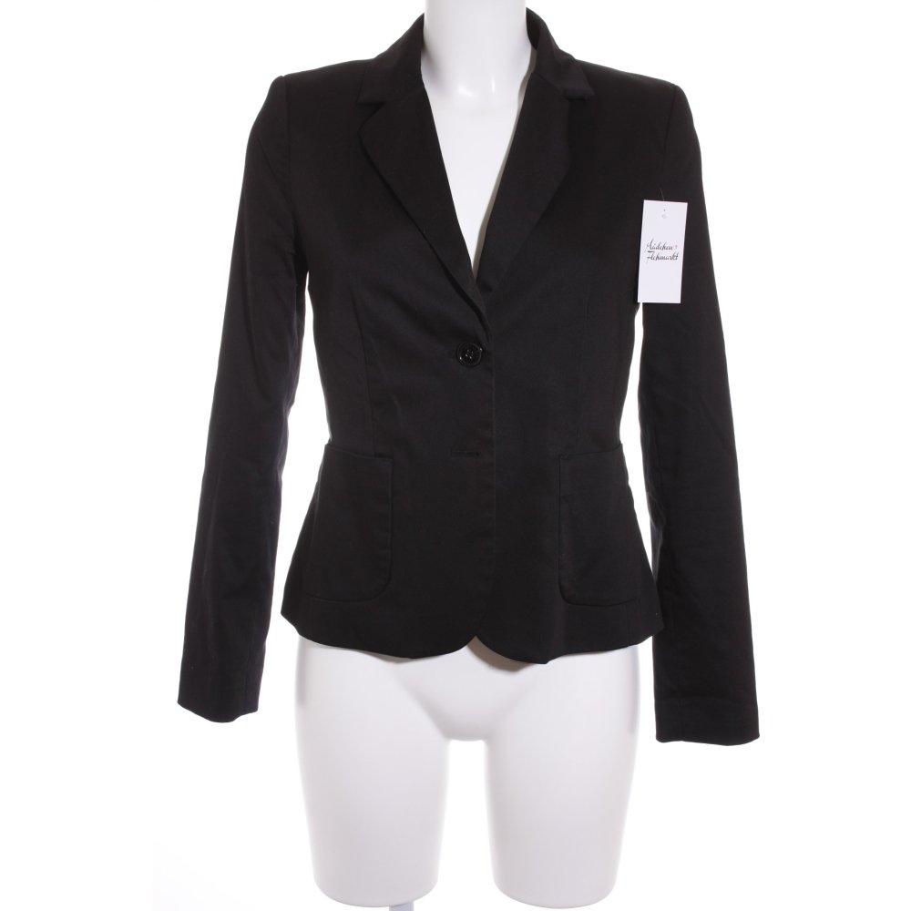 hallhuber kurz blazer schwarz klassischer stil damen gr. Black Bedroom Furniture Sets. Home Design Ideas