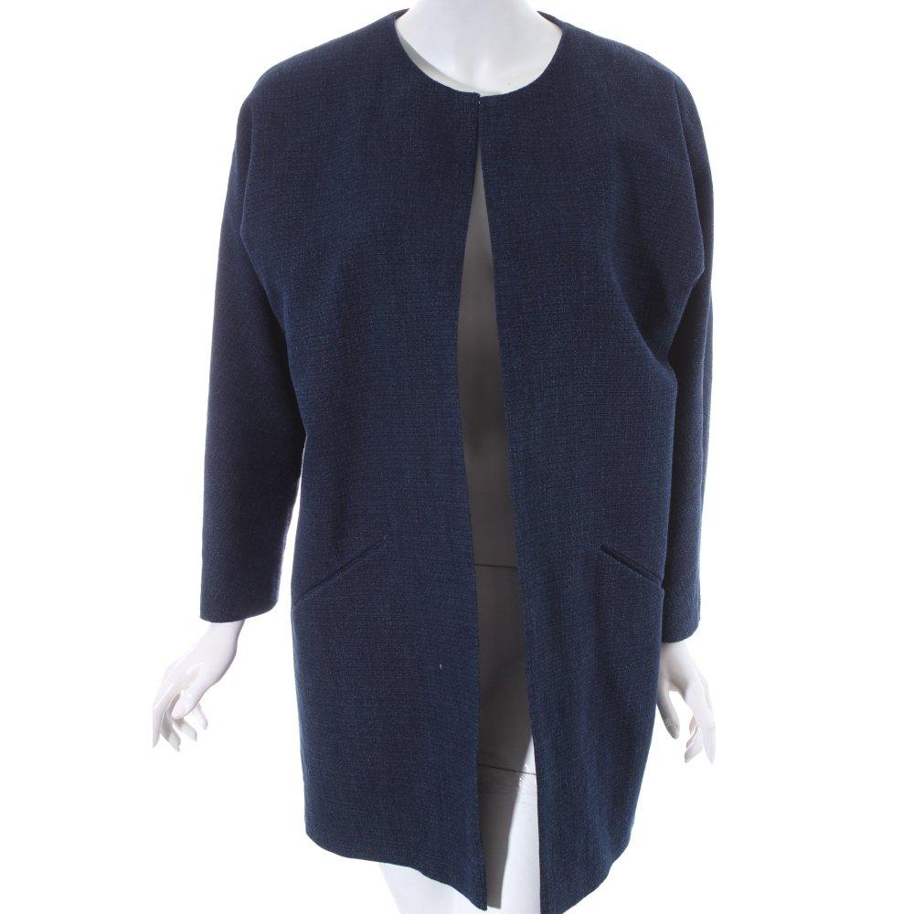 hallhuber oversized mantel dunkelblau jeans optik damen gr. Black Bedroom Furniture Sets. Home Design Ideas