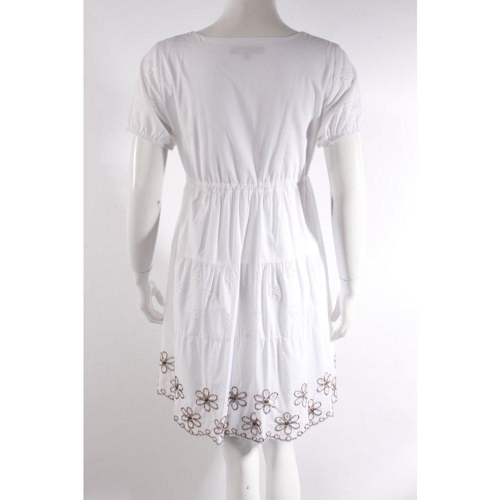 hallhuber sommerkleid mit empire schn rung damen gr de 36 wei kleid dress. Black Bedroom Furniture Sets. Home Design Ideas