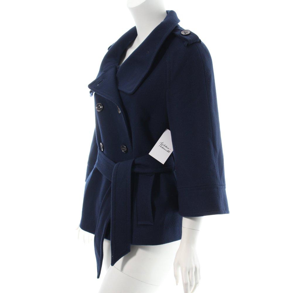 Hallhuber wolljacke dunkelblau klassischer stil damen gr for Klassischer stil