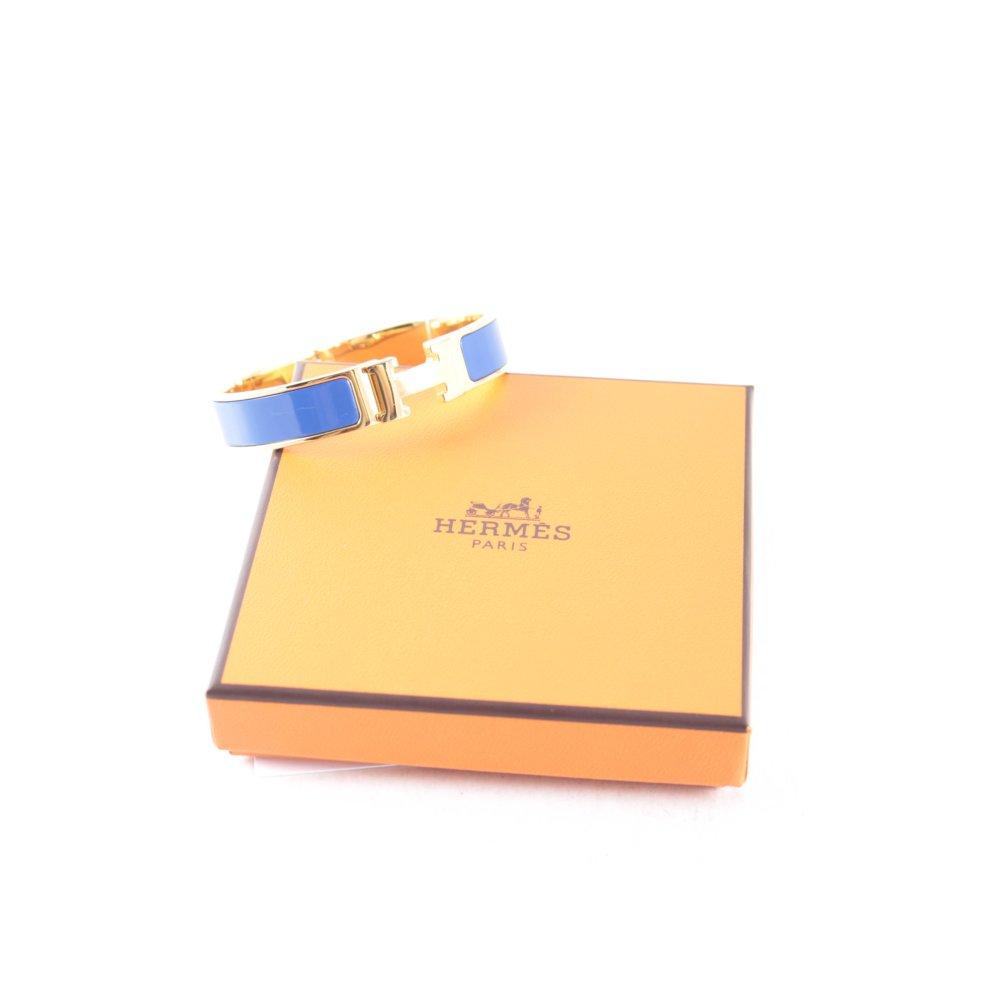 herm s armreif goldfarben blau elegant damen armschmuck. Black Bedroom Furniture Sets. Home Design Ideas