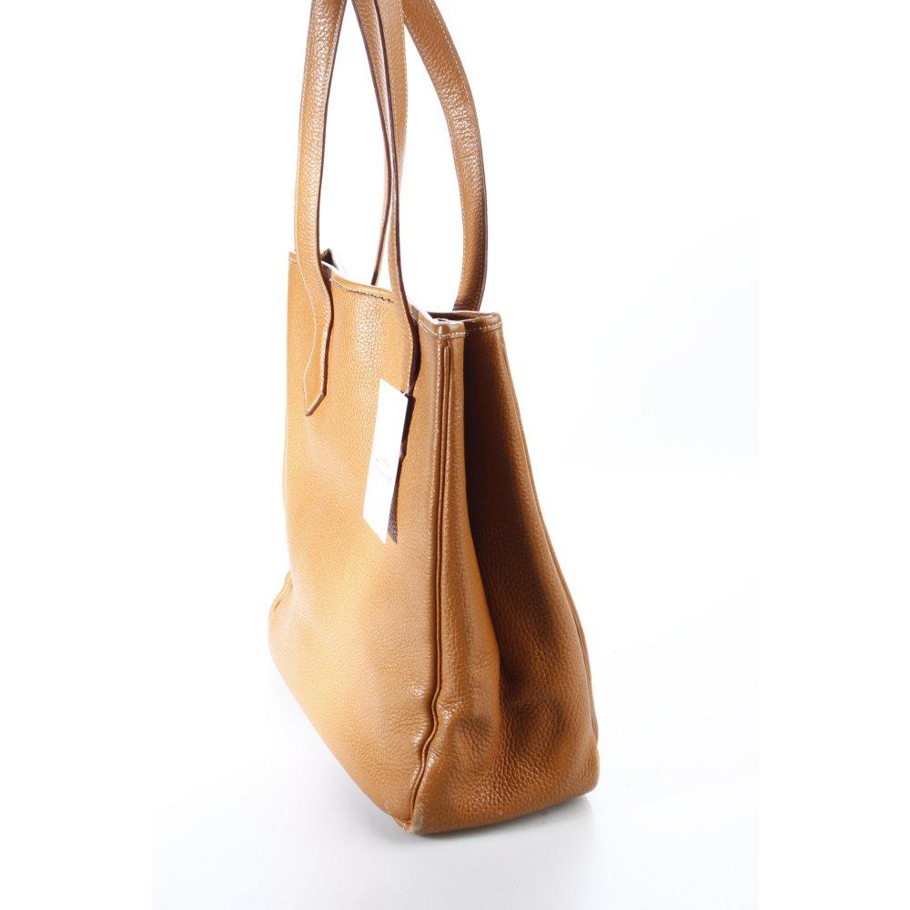 herm s handtasche cognac schlichter stil damen tasche bag. Black Bedroom Furniture Sets. Home Design Ideas