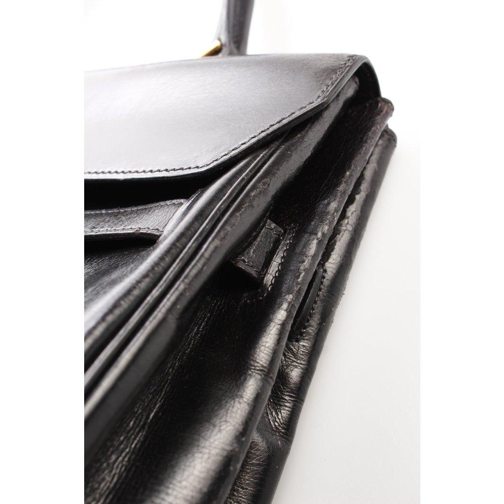 herm s handtasche schwarz klassischer stil damen tasche. Black Bedroom Furniture Sets. Home Design Ideas