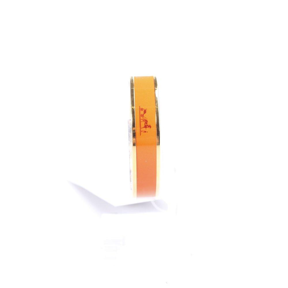 hermes paris armreif orange goldfarben eleganz look damen. Black Bedroom Furniture Sets. Home Design Ideas