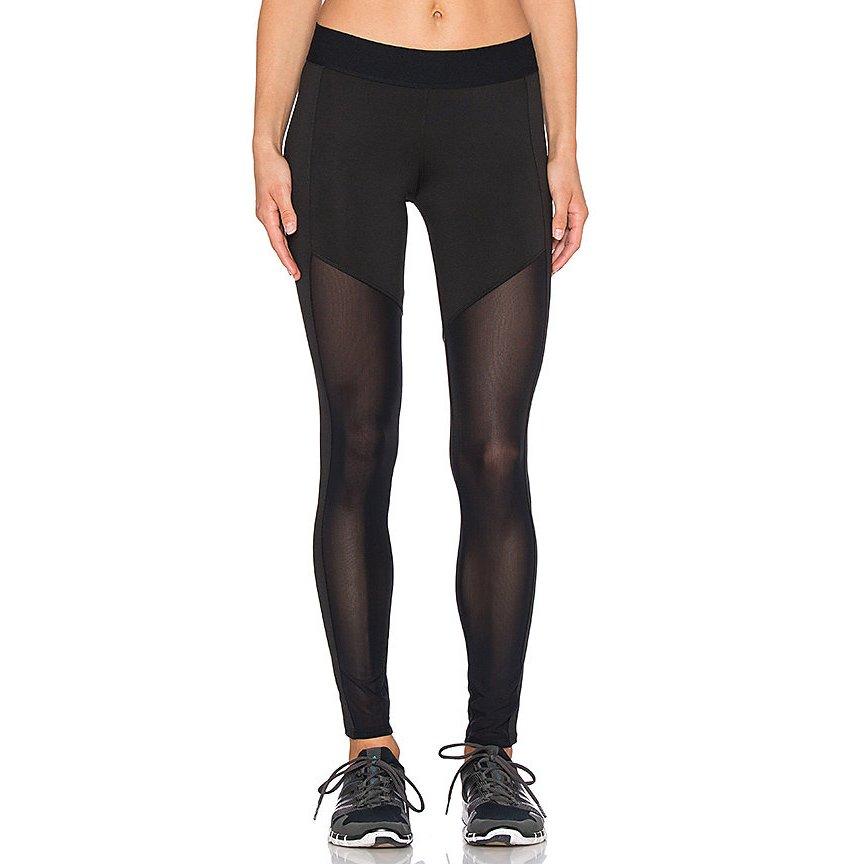 heroine sport leggings schwarz grau casual look damen gr de 38 hose trousers ebay. Black Bedroom Furniture Sets. Home Design Ideas