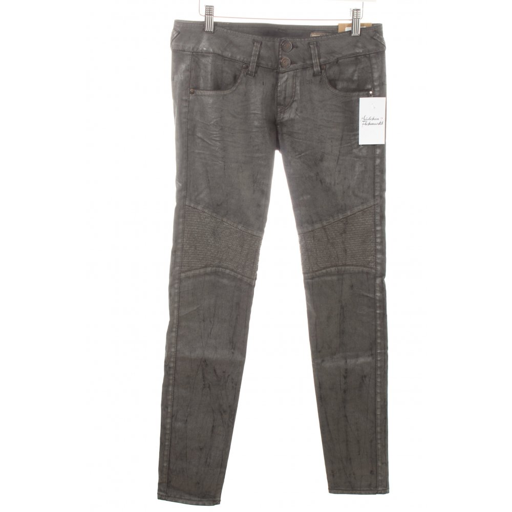 herrlicher stretch jeans moira slim silver dunkelgrau damen gr de 34 ebay. Black Bedroom Furniture Sets. Home Design Ideas
