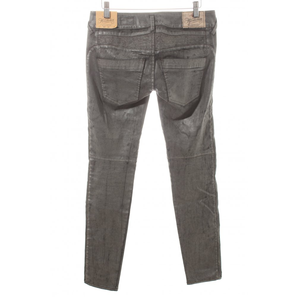 herrlicher stretch jeans moira slim silver dark grey women s size uk 6 ebay. Black Bedroom Furniture Sets. Home Design Ideas