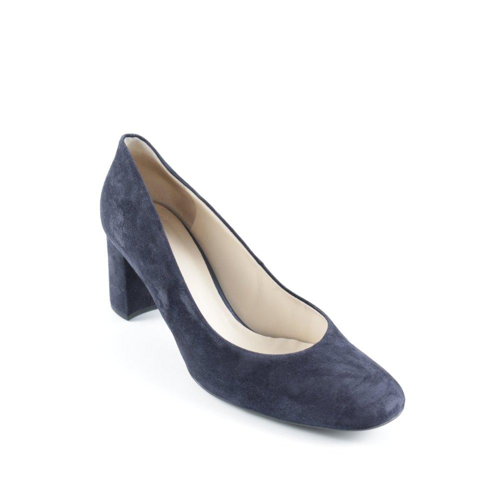 h gl high heels dunkelblau casual look damen gr de 39 pumps damenschuhe ebay. Black Bedroom Furniture Sets. Home Design Ideas