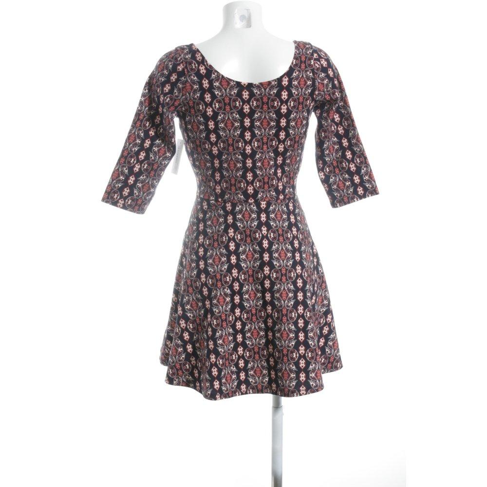 hollister a linien kleid abstraktes muster schlichter stil damen gr de 40 dress ebay. Black Bedroom Furniture Sets. Home Design Ideas