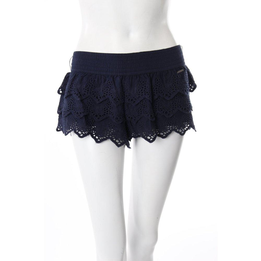 hollister shorts dunkelblau h keloptik damen gr de 38. Black Bedroom Furniture Sets. Home Design Ideas