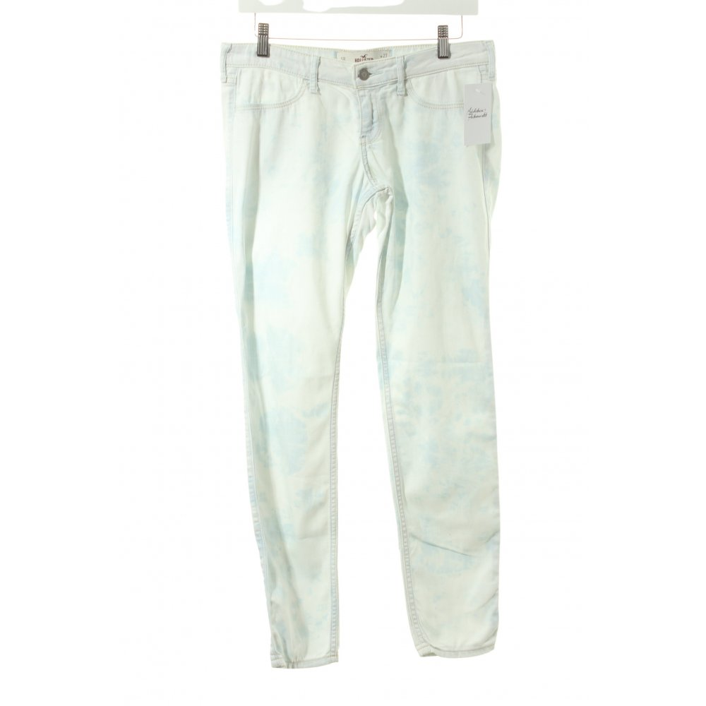 hollister skinny jeans hellblau wei batikmuster casual. Black Bedroom Furniture Sets. Home Design Ideas