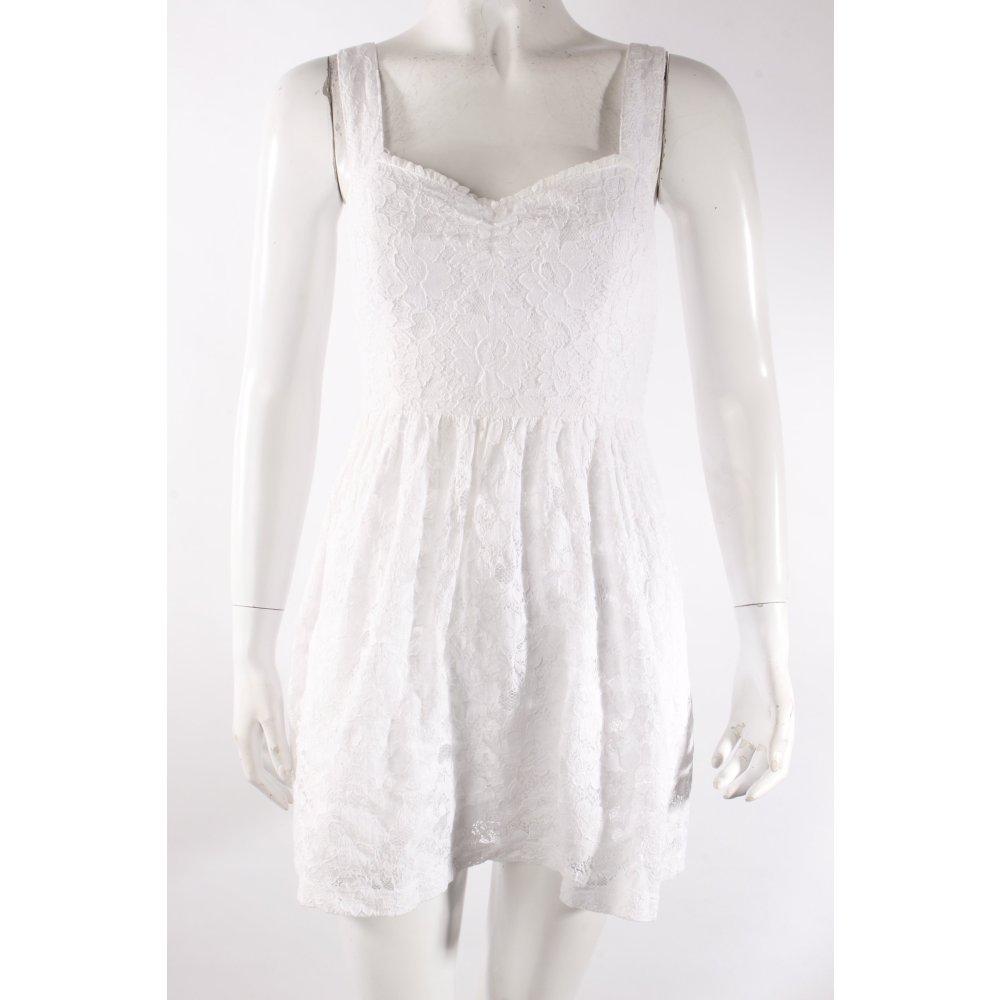 hollister spitzenkleid wei damen gr de 34 wei kleid dress baumwolle ebay. Black Bedroom Furniture Sets. Home Design Ideas