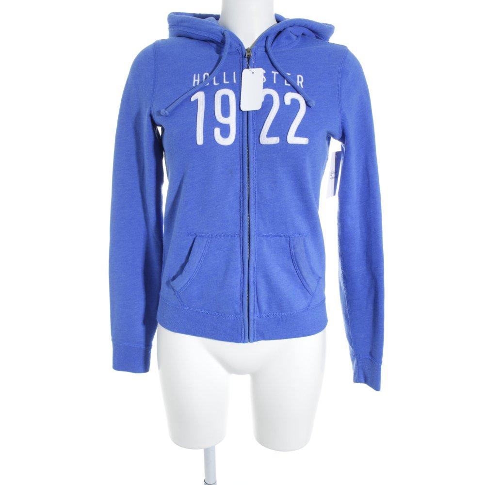 Details zu HOLLISTER Sweatjacke blau Casual Look Damen Gr. DE 36 Sweat Sweat Jacket