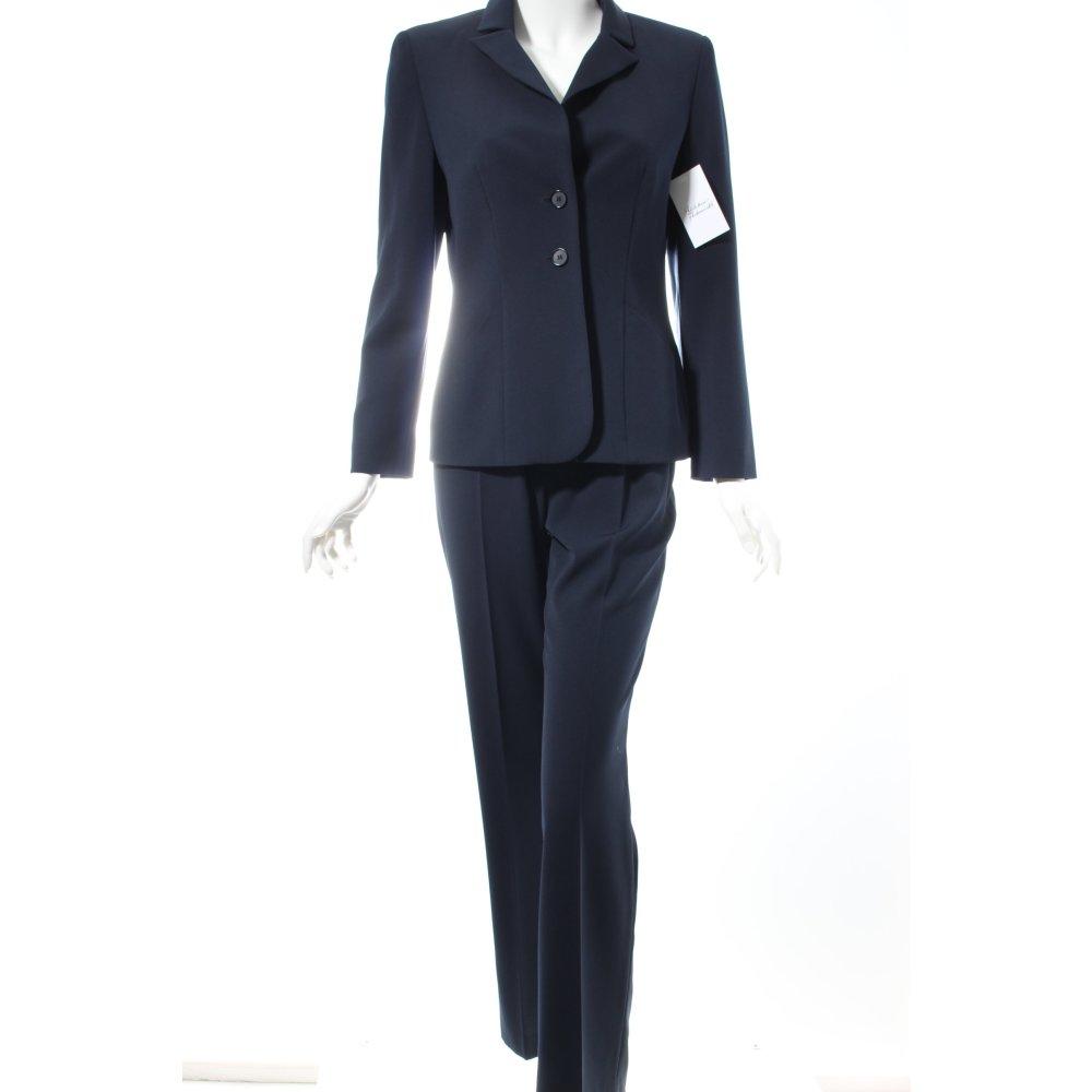hosenanzug dunkelblau business look damen gr de 36 anzug suit trouser suit ebay. Black Bedroom Furniture Sets. Home Design Ideas