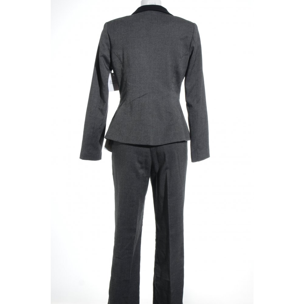 hosenanzug schwarz grau meliert elegant damen gr de 38 anzug suit trouser suit ebay. Black Bedroom Furniture Sets. Home Design Ideas