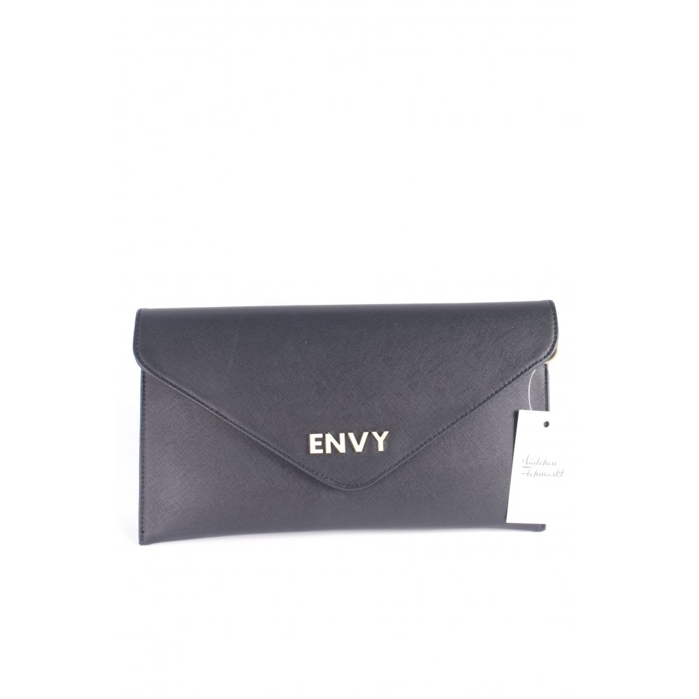 house of envy clutch schwarz elegant damen tasche bag ebay. Black Bedroom Furniture Sets. Home Design Ideas