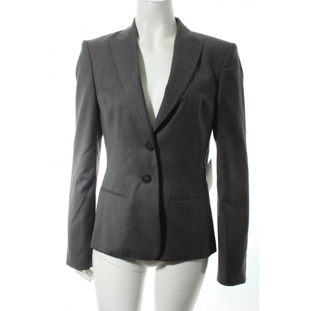 hugo boss blazer grau business look damen gr de 38 ebay. Black Bedroom Furniture Sets. Home Design Ideas