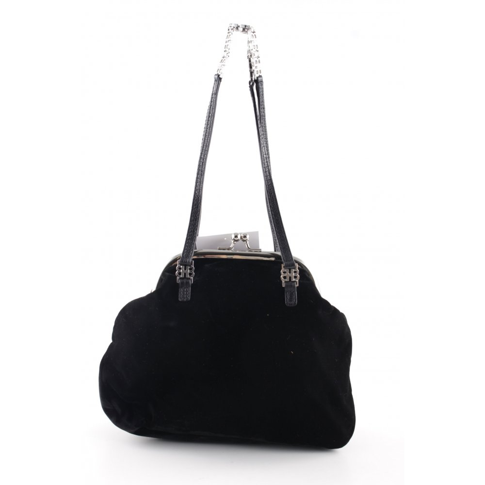 hugo boss b geltasche schwarz elegant damen tasche bag. Black Bedroom Furniture Sets. Home Design Ideas