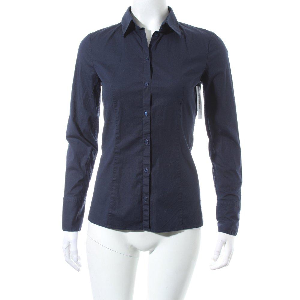 hugo boss hemd bluse dunkelblau business look damen gr de. Black Bedroom Furniture Sets. Home Design Ideas