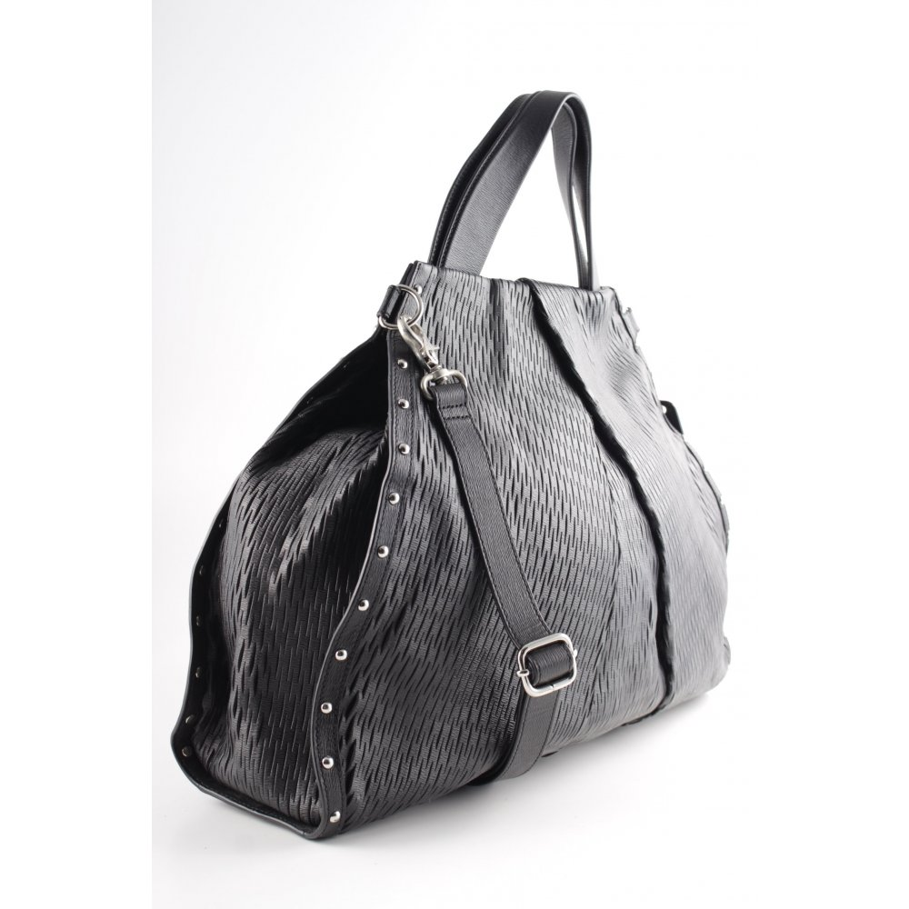 hugo boss henkeltasche schwarz elegant damen tasche bag. Black Bedroom Furniture Sets. Home Design Ideas