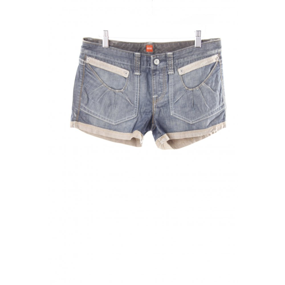 hugo boss jeansshorts blau damen gr de 38 denim shorts. Black Bedroom Furniture Sets. Home Design Ideas