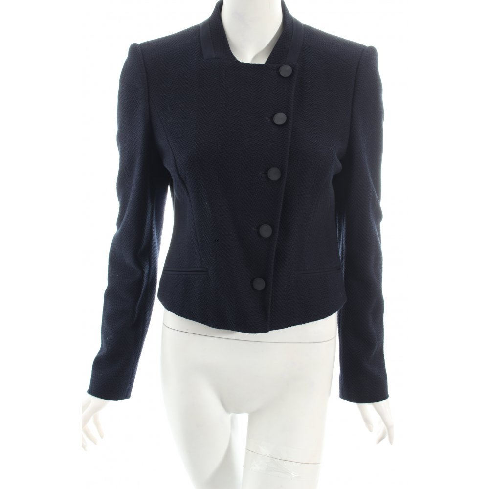 hugo boss kurz blazer dunkelblau eleganz look damen gr de. Black Bedroom Furniture Sets. Home Design Ideas