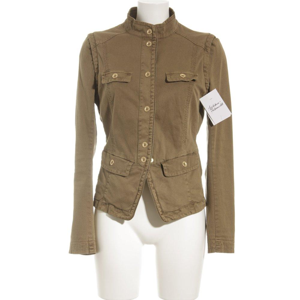 hugo boss kurzjacke khaki schlichter stil damen gr de 38 jacke jacket ebay. Black Bedroom Furniture Sets. Home Design Ideas