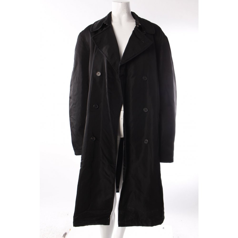 hugo boss mantel gl nzend damen gr de 42 schwarz coat ebay. Black Bedroom Furniture Sets. Home Design Ideas