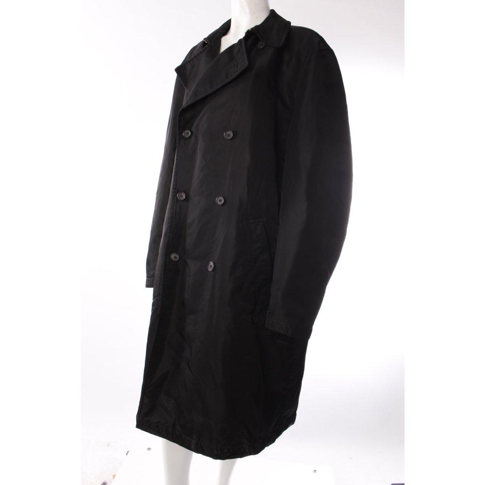 hugo boss mantel gl nzend damen gr de 42 schwarz coat ebay. Black Bedroom Furniture Sets. Home Design Ideas