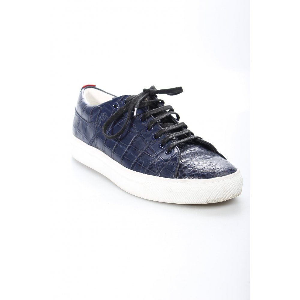 hugo boss schn rsneaker dunkelblau wei animalmuster casual look damen sneaker ebay. Black Bedroom Furniture Sets. Home Design Ideas