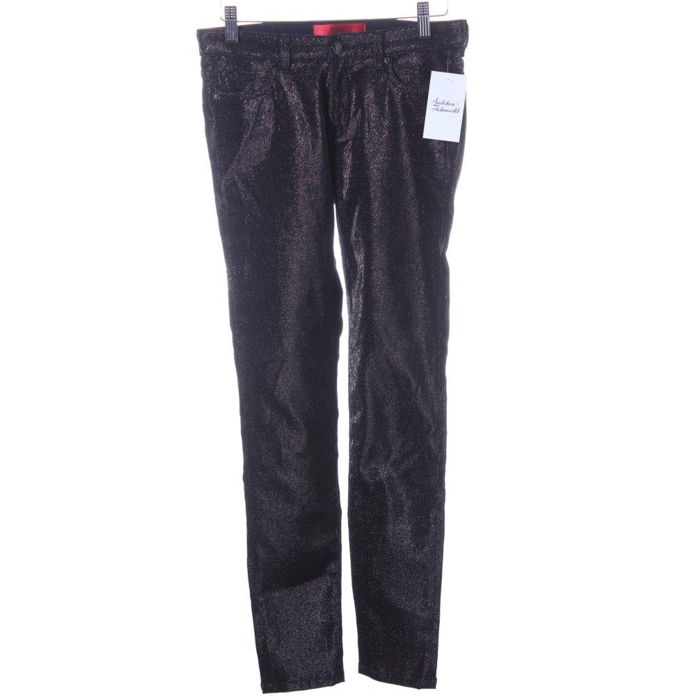 hugo boss slim jeans schwarz glitzer optik damen gr de 34. Black Bedroom Furniture Sets. Home Design Ideas