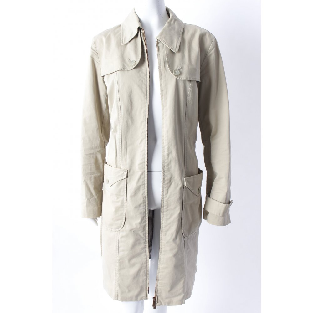 hugo boss trenchcoat mit tailleng rtel damen gr de 36 beige mantel coat ebay. Black Bedroom Furniture Sets. Home Design Ideas