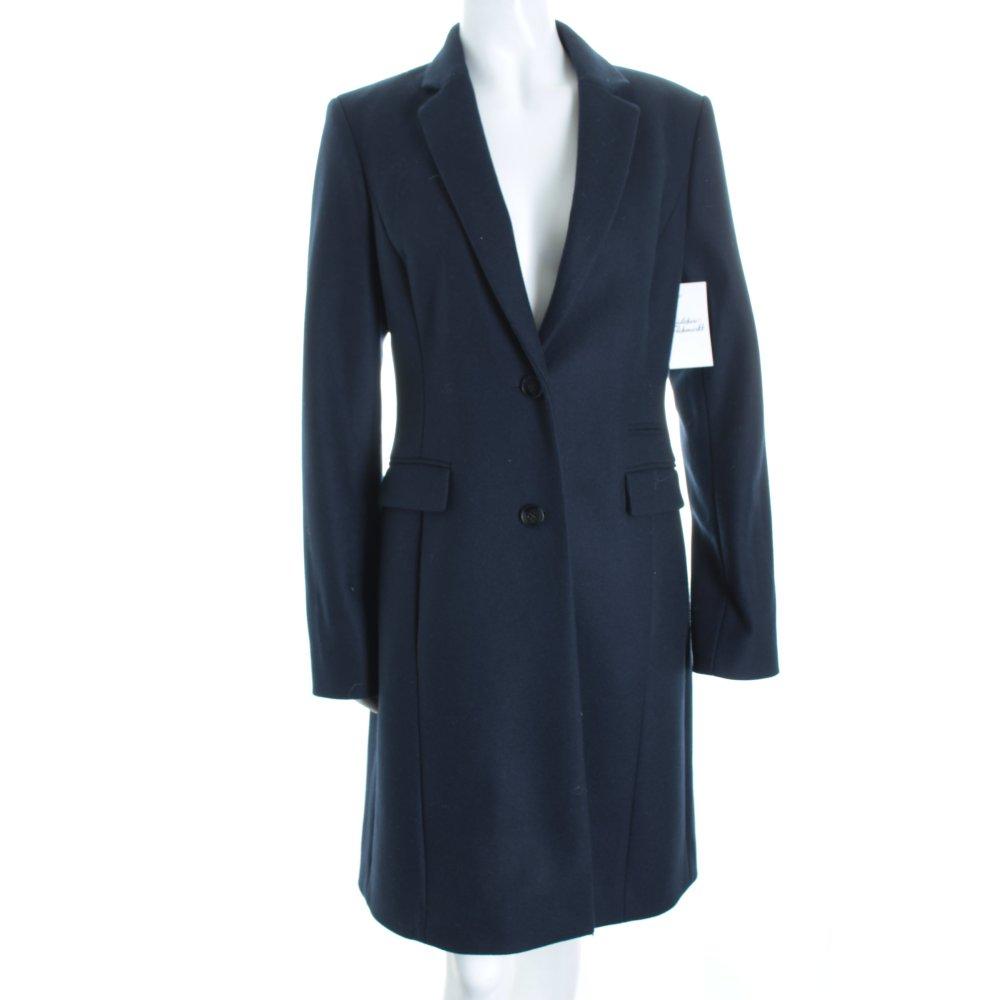 hugo boss wool coat dark blue classic style women s size. Black Bedroom Furniture Sets. Home Design Ideas