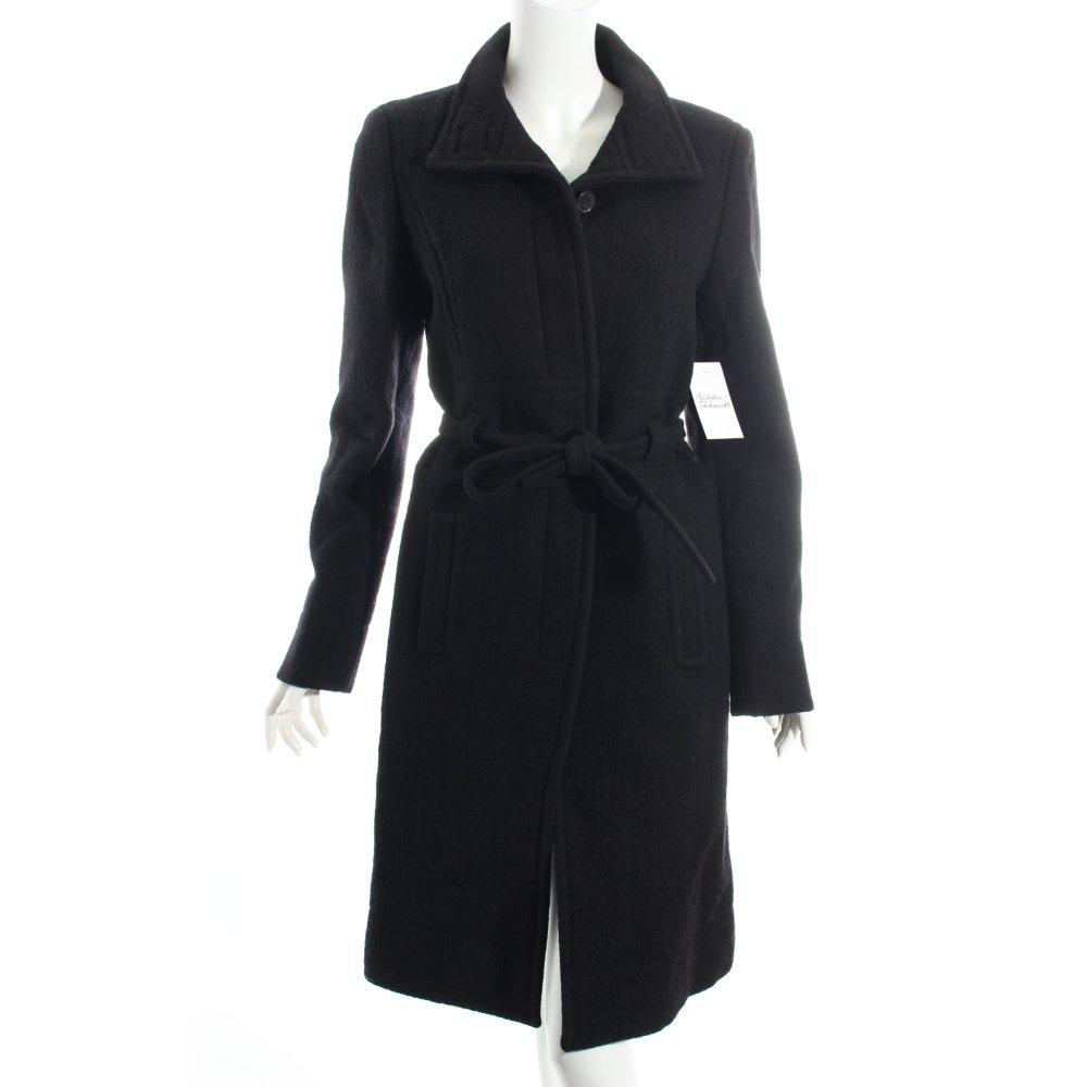 hugo boss wool coat black elegant women s size uk 10 ebay. Black Bedroom Furniture Sets. Home Design Ideas