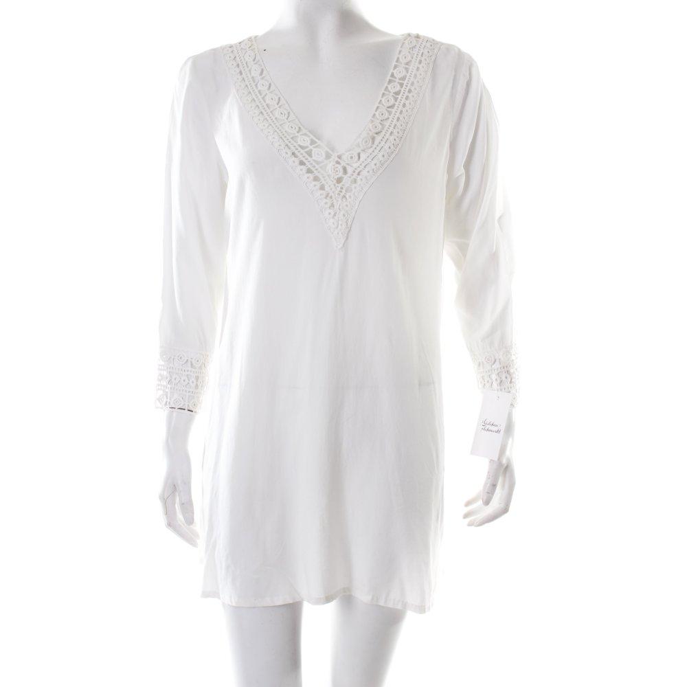 hunkem ller tunikakleid wei hippie look damen gr de 36 wei kleid dress ebay. Black Bedroom Furniture Sets. Home Design Ideas
