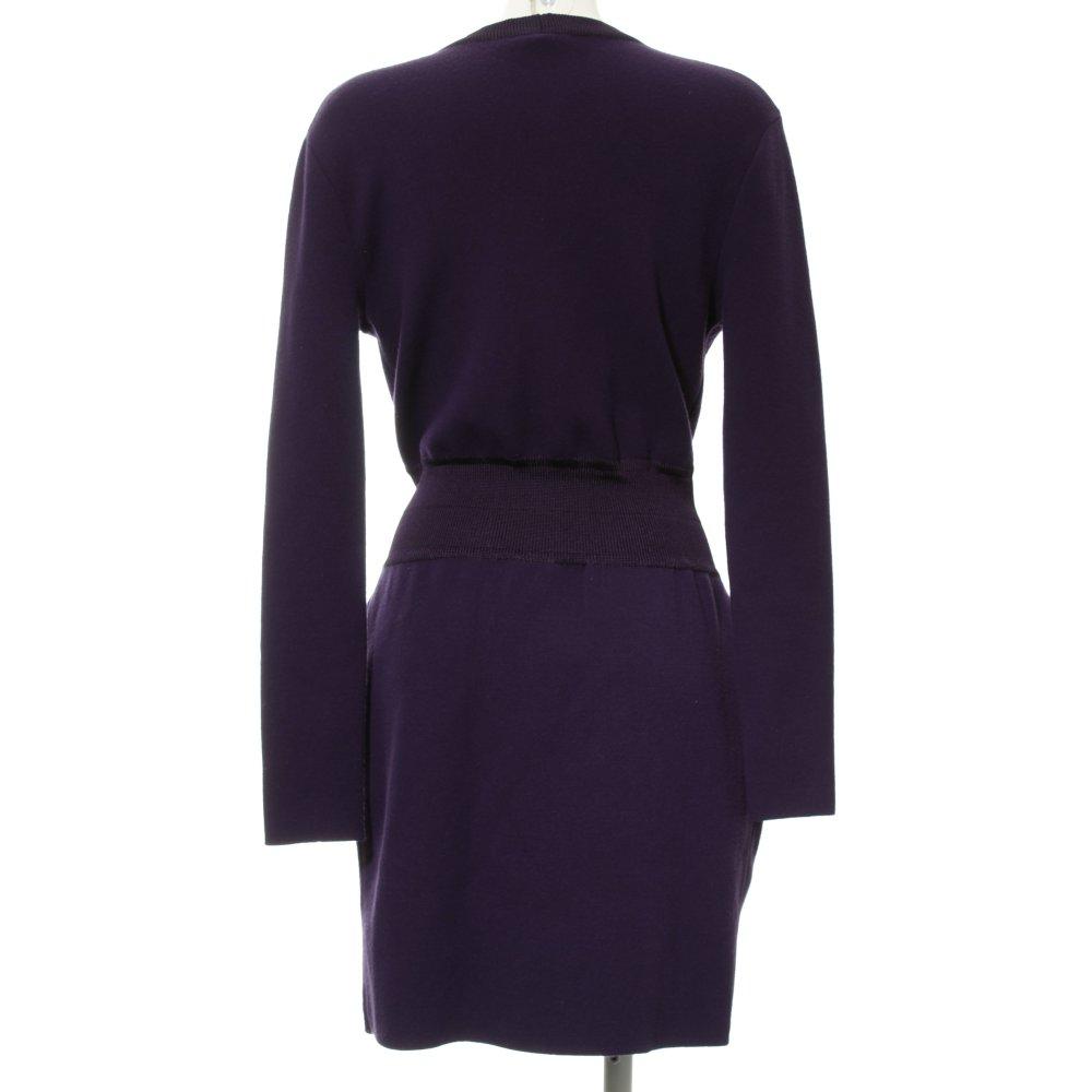 check out 7eae1 a423b Dettagli su ICEBERG Abito a maniche lunghe viola scuro elegante Donna  Taglia IT 44