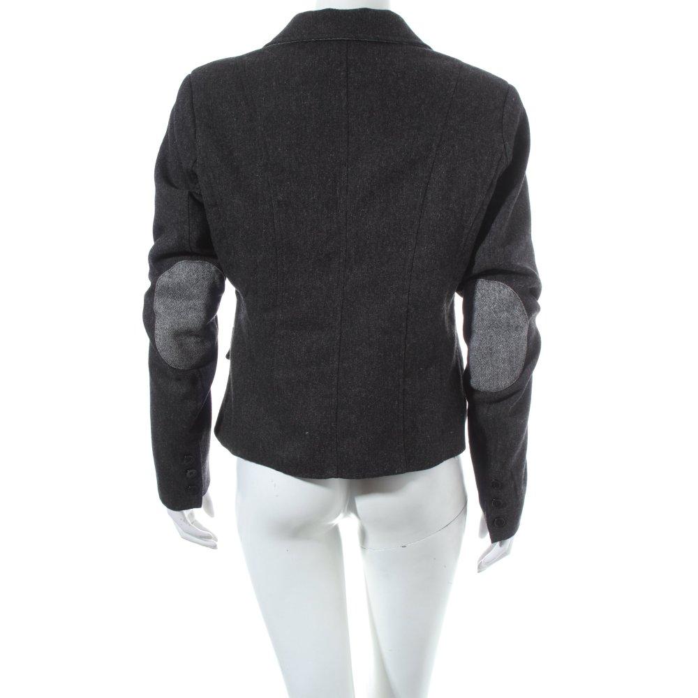 imperial blazer en laine gris fonc beige mouchet style. Black Bedroom Furniture Sets. Home Design Ideas