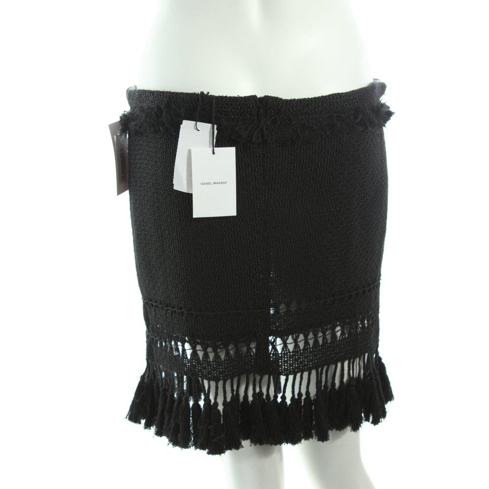 isabel marant minirock schwarz hippie look damen gr de 40 rock skirt miniskirt ebay. Black Bedroom Furniture Sets. Home Design Ideas