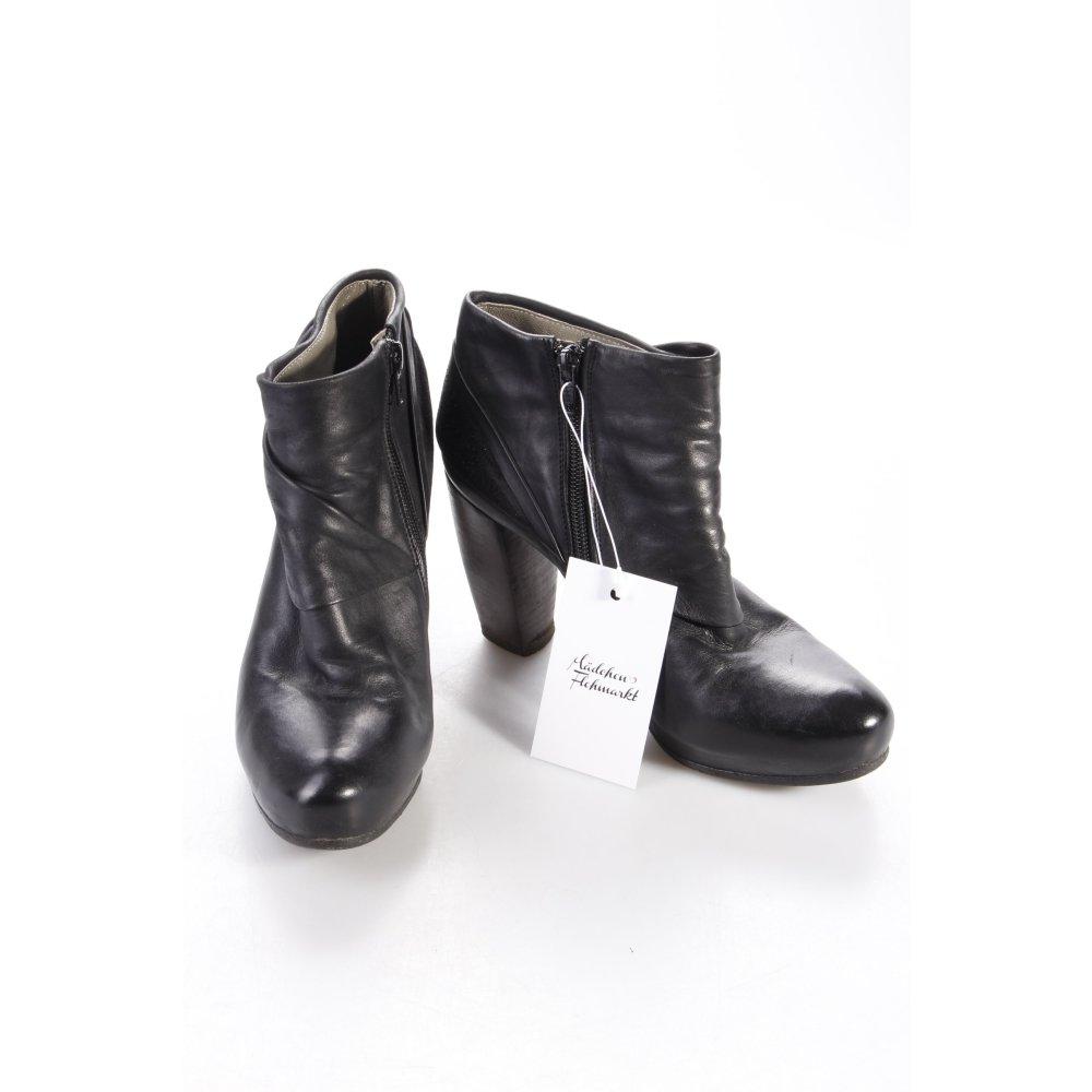 ankle boots schwarz leder rafael store herren schuhe. Black Bedroom Furniture Sets. Home Design Ideas
