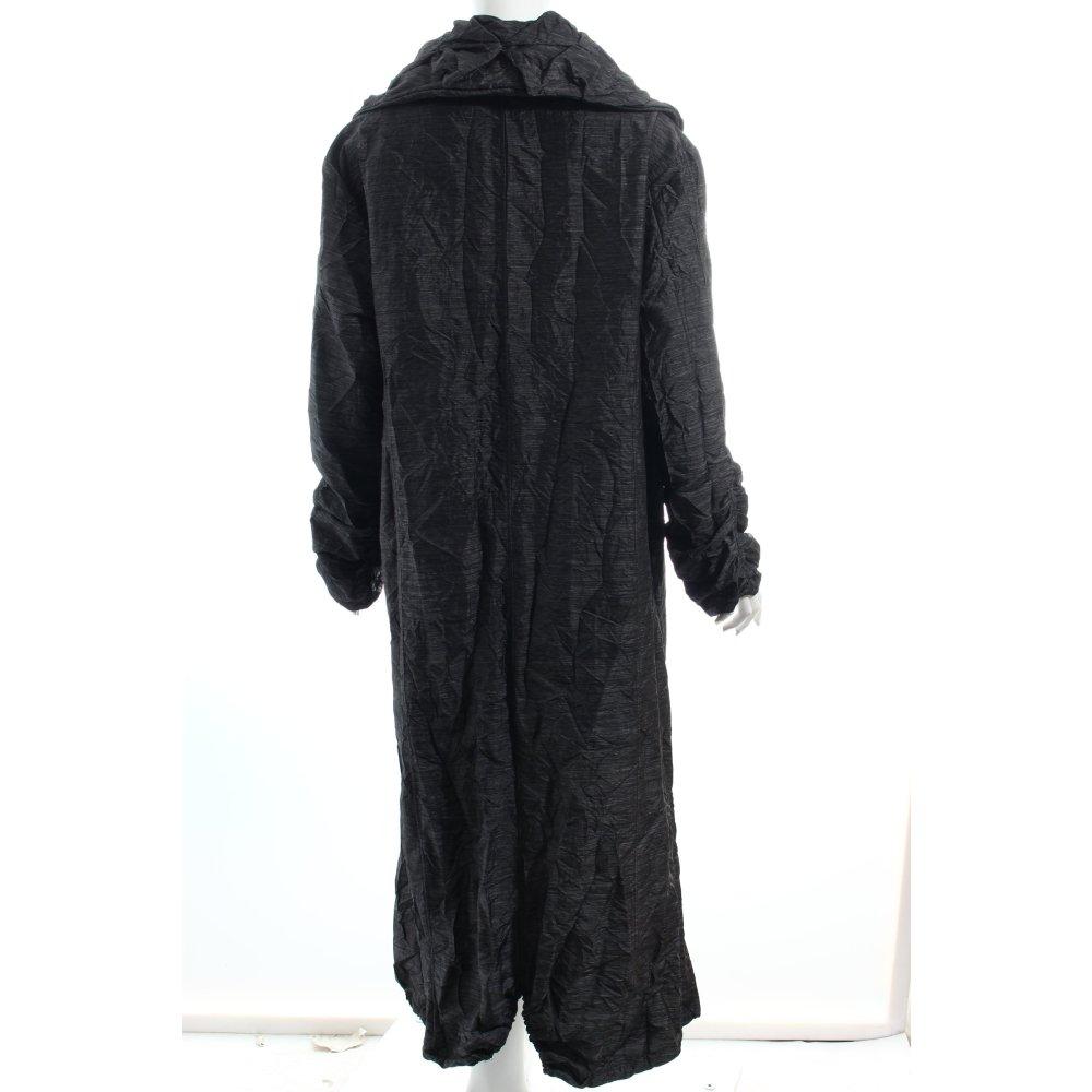 jean marc philipp paris bodenlanger mantel silberfarben dunkelblau damen coat ebay. Black Bedroom Furniture Sets. Home Design Ideas