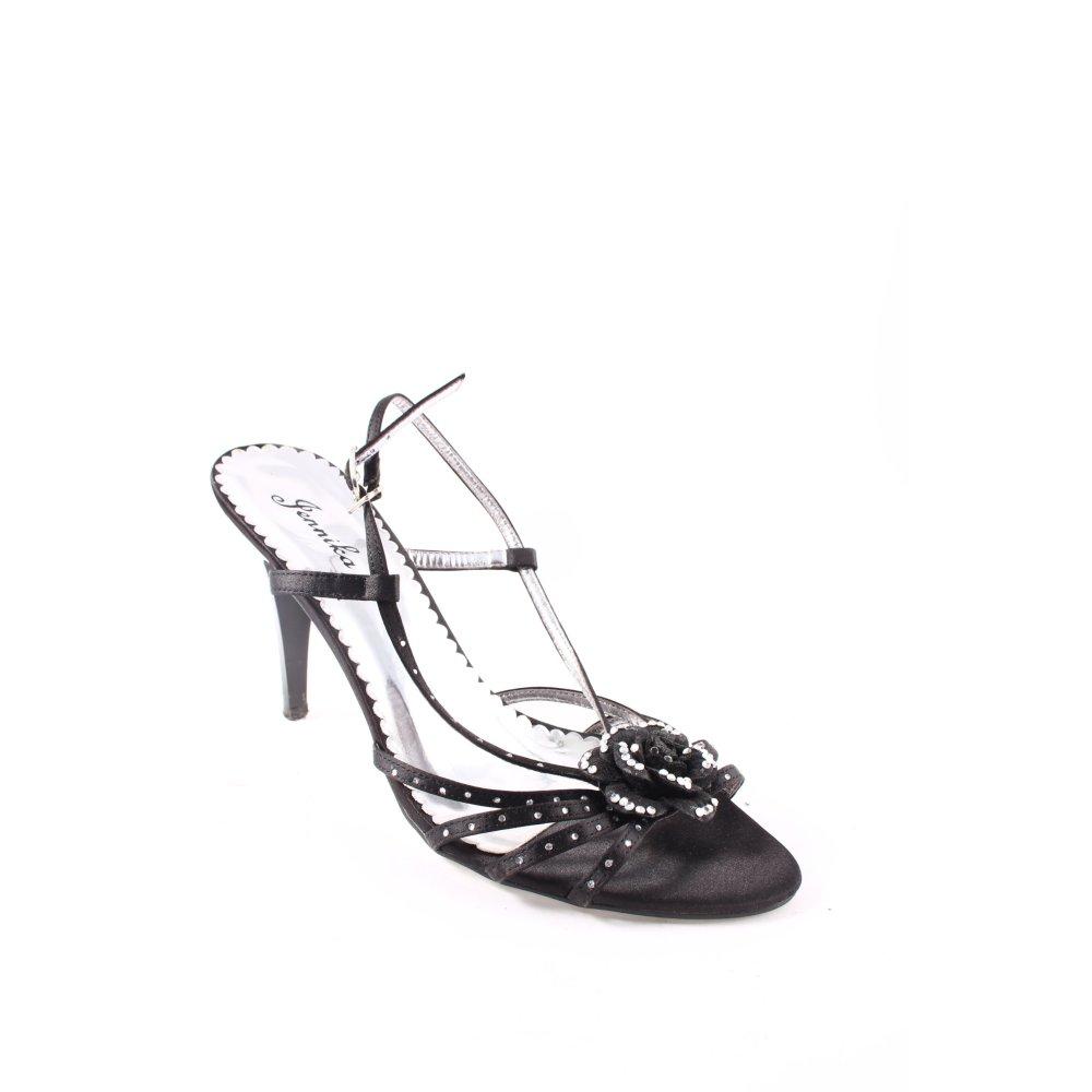 JENNIKA Sandalo con cinturino e tacco alto neroargento elegante Donna