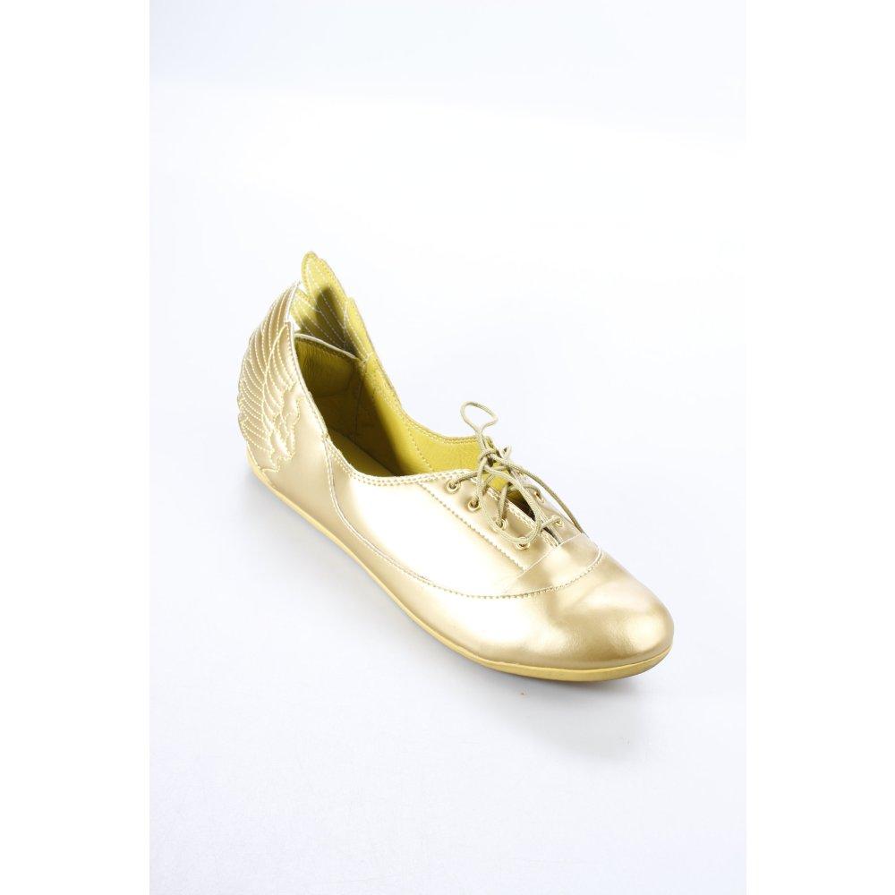 JEREMY SCOTT ADIDAS Lace Shoes gold-colored extravagant ...