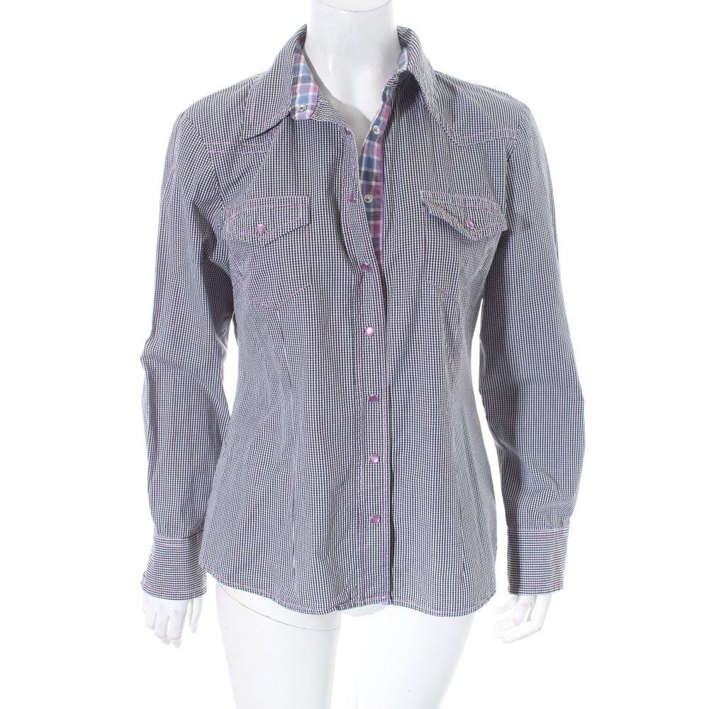 jette joop hemd bluse karomuster casual look damen gr de 40 wei blouse ebay. Black Bedroom Furniture Sets. Home Design Ideas