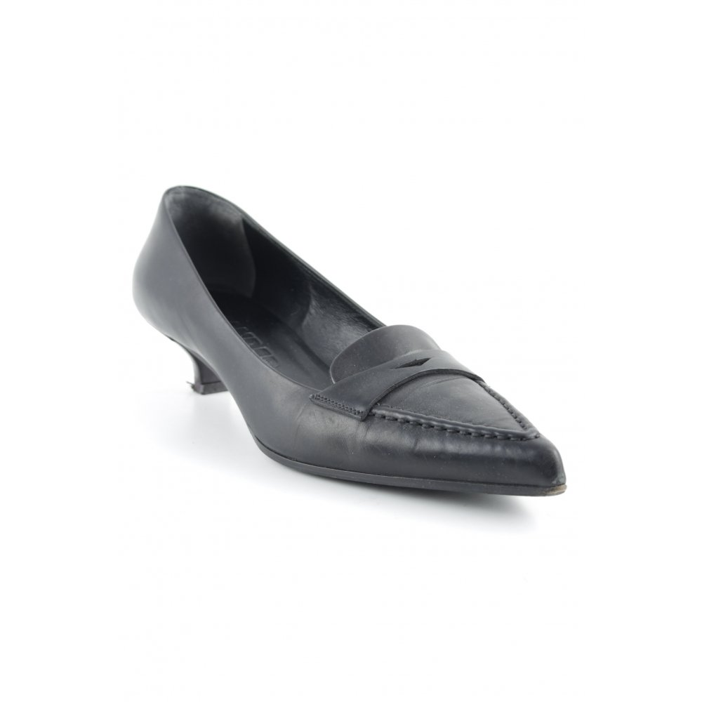 JIL SANDER Dcollet a punta nero elegante Donna Taglia IT 37 Dcollet