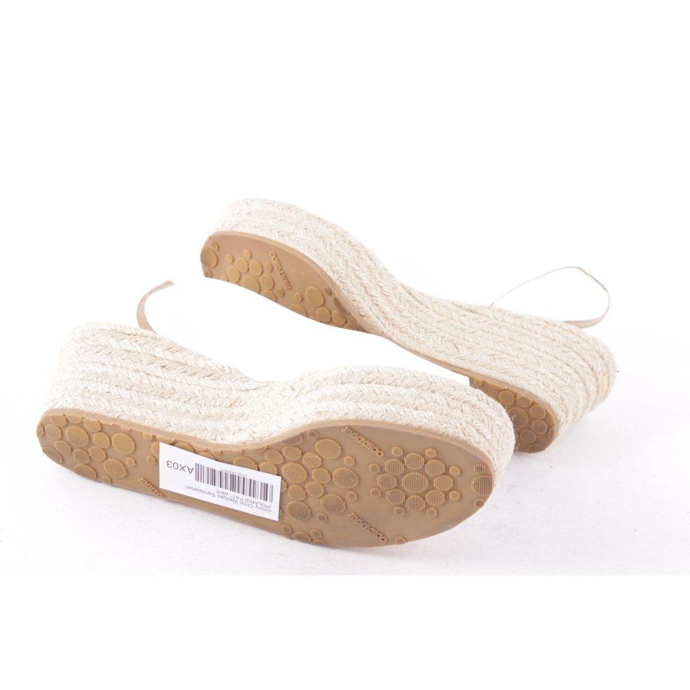 jimmy choo wedge sandals polaris pat white women s size uk 6 leather ebay. Black Bedroom Furniture Sets. Home Design Ideas